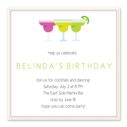 Cool Margarita Invitation