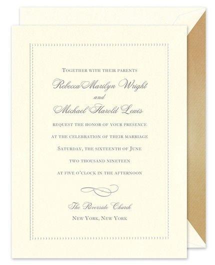 Beaded Border Invitation