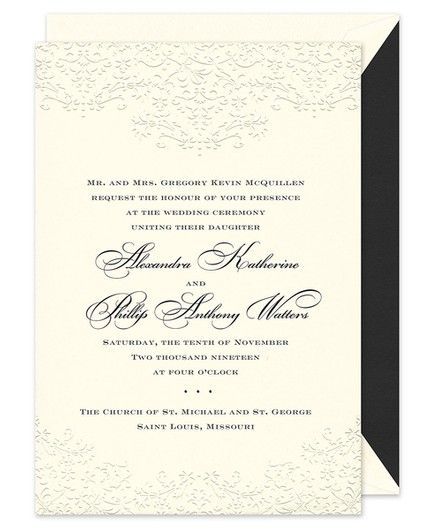 Floral Scroll Invitation