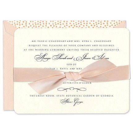 Coral Shimmer Invitation