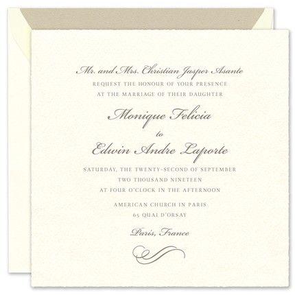 Imported Invitation