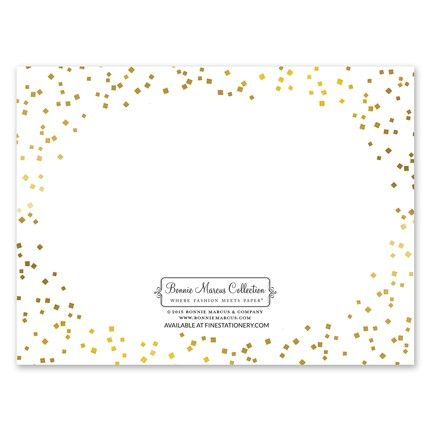 Gorgeous Confetti Note Card