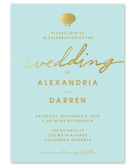 Stylish Shell Invitation