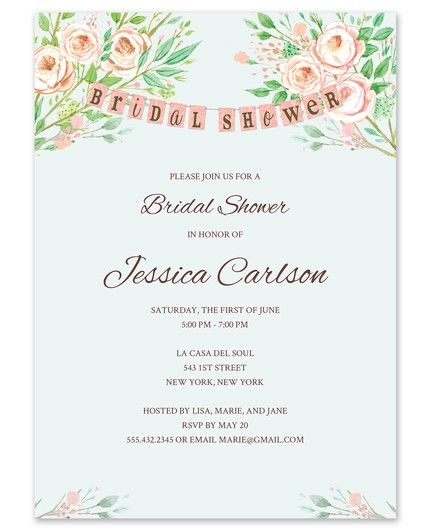 Bridal Banner Invitation