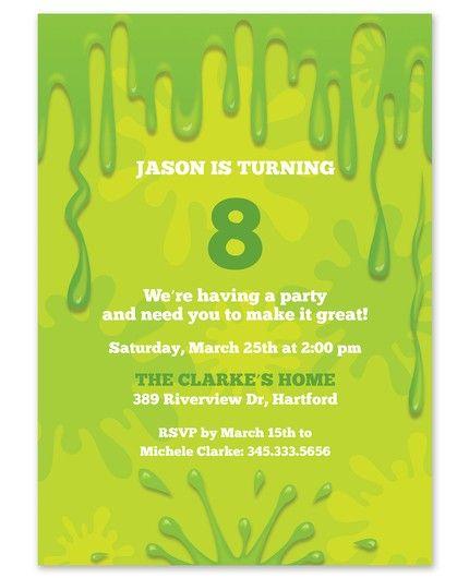 Slime Time Invitation