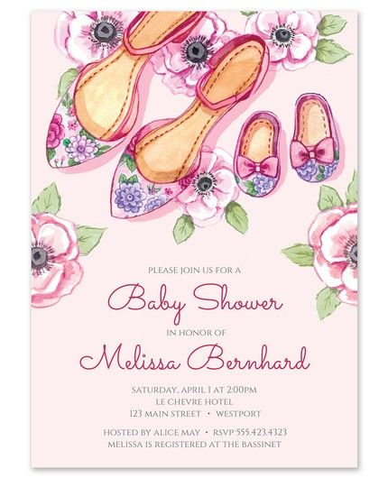 Baby Shoes Shower Invitation