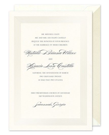 Pearl Stripe Invitation