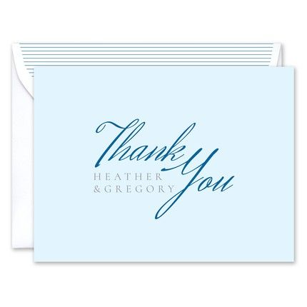 Soft Blue Note Card
