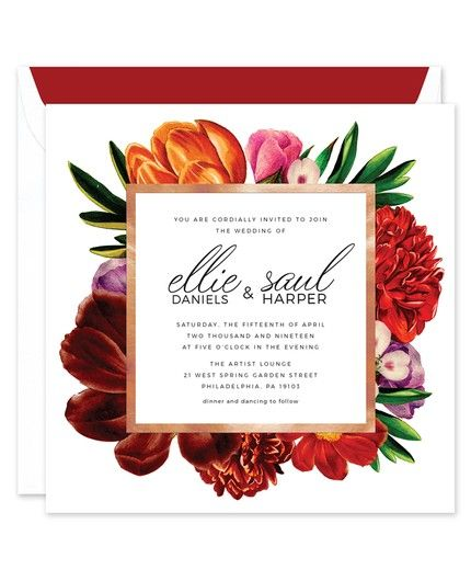 Bold Flora Invitation
