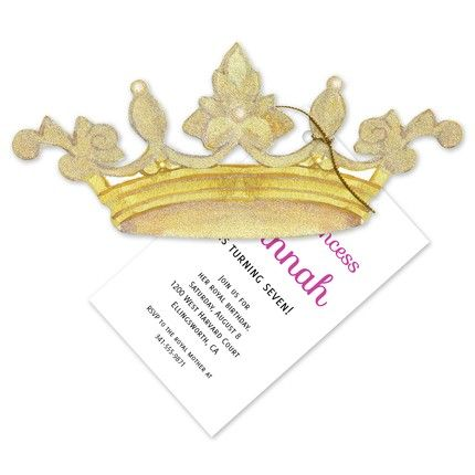 Crown Party Invitation