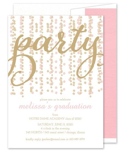 Party Streamers Invitation