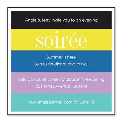 Bright Stripes Invitation