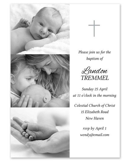 Modern Baptism Invitation