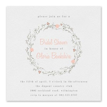 Floral Wreath Invitation