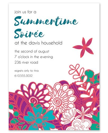Summer Florals Invitation