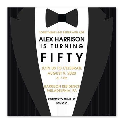 Suit Up Invitation