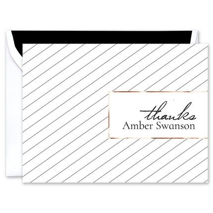 Pinstripe Note Card