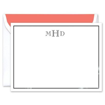 Black Foil Flat Card