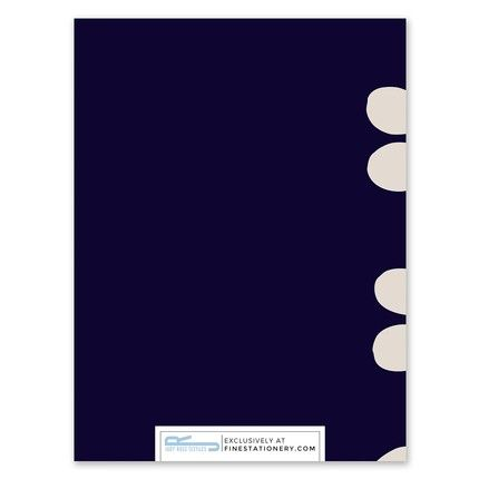 Celine Navy Note Card