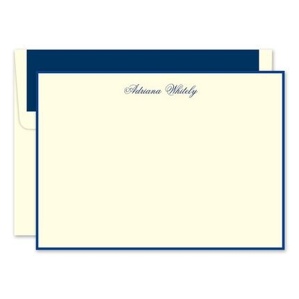 Navy & Ivory Flat Card