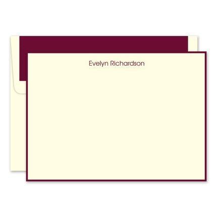 Wine & Ivory Flat Card