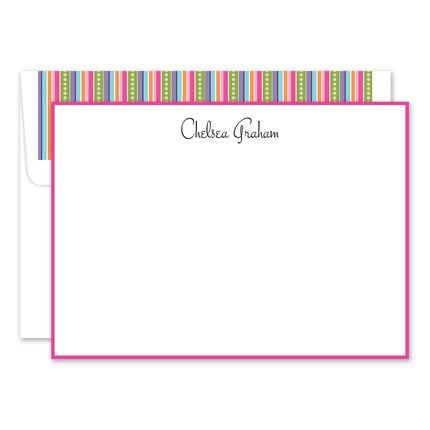 Multi-Colored Flat Card Set