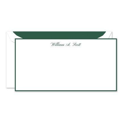 Hunter Green Flat Card
