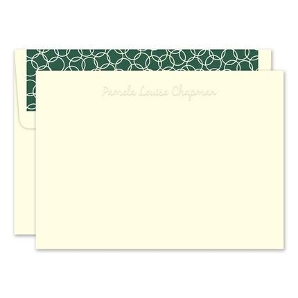 Embossed Ivory Flat Card