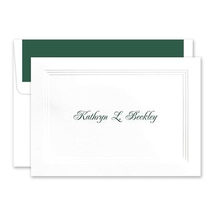 White Border Note Card