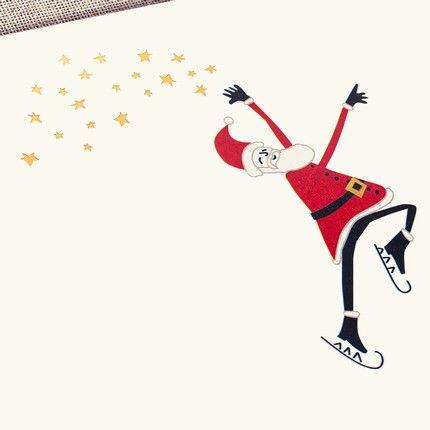 Santa on Ice Greeting Card