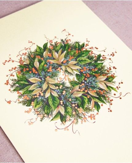 Whimsy Wreath Greeting Card