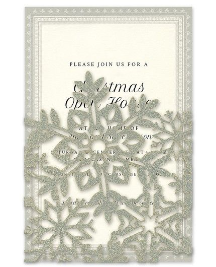 Snowflake Pocket Invitation