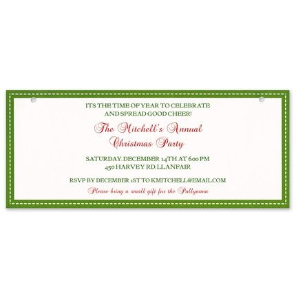 Bright Banner Invitation