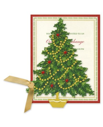Foil Tree Invitation
