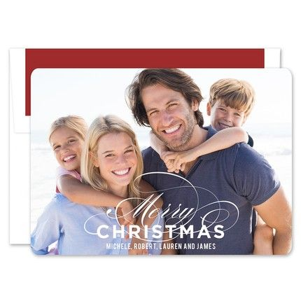 Merry Flourish Photo Card