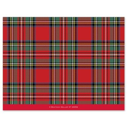 Tartan Red Photo Card