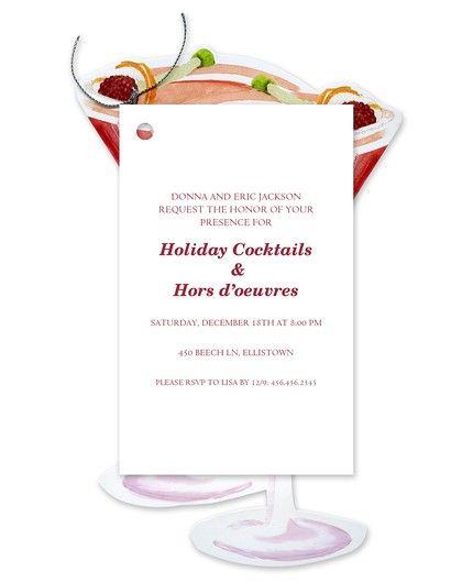 Holiday Cosmo Invitation