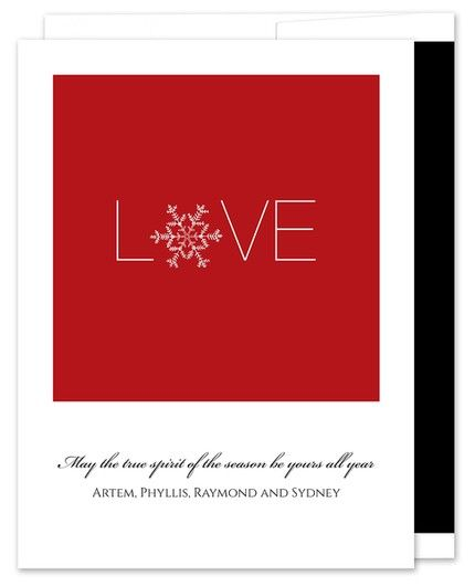Snowflake Red Greeting Card