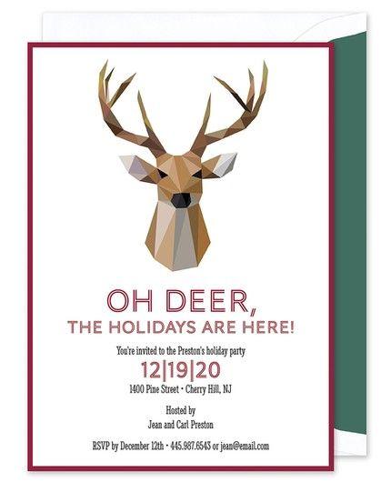 Reindeer Invitation
