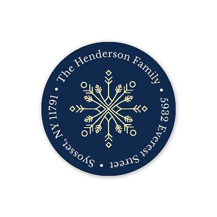 Frosted Address Label