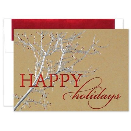 Rustic Tree Holiday Greeting Card