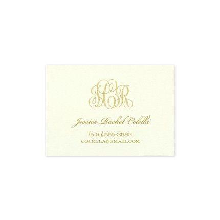 Ecru Calling Card