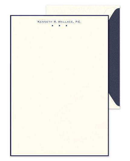 Navy Border Lettersheet