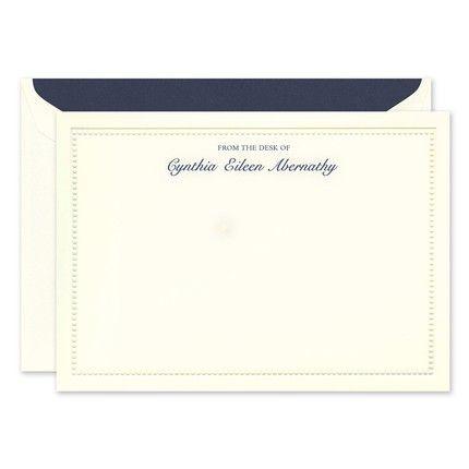 Beaded Border Flat Card