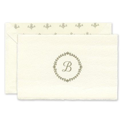 Imported White Note Card