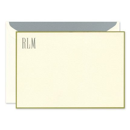 Gold Border Flat Card
