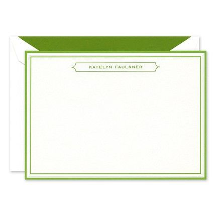 Vivid Green Border Card