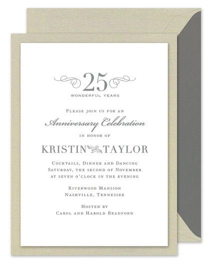 Taupe Shimmer Invitation