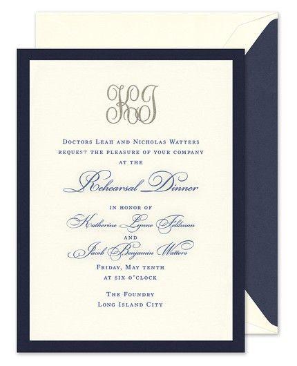 Navy & Ecru Invitation