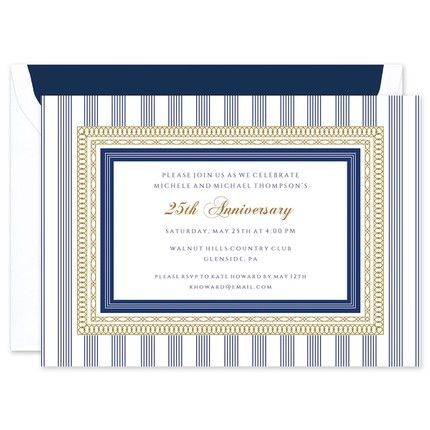 Regatta Stripes Invitation